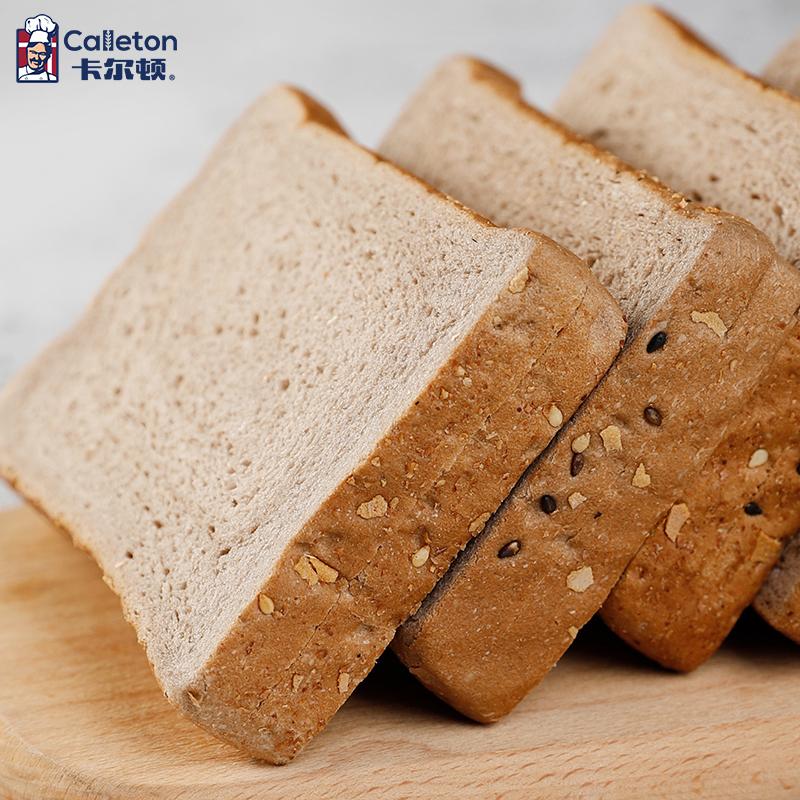 卡尔顿黑麦全麦面包粗粮早餐代餐吐司食品整箱土司零食小吃500g箱 No.4