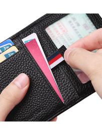 英皇保罗 真皮超薄迷你驾驶证件小卡包男小巧卡片包多卡位信用卡