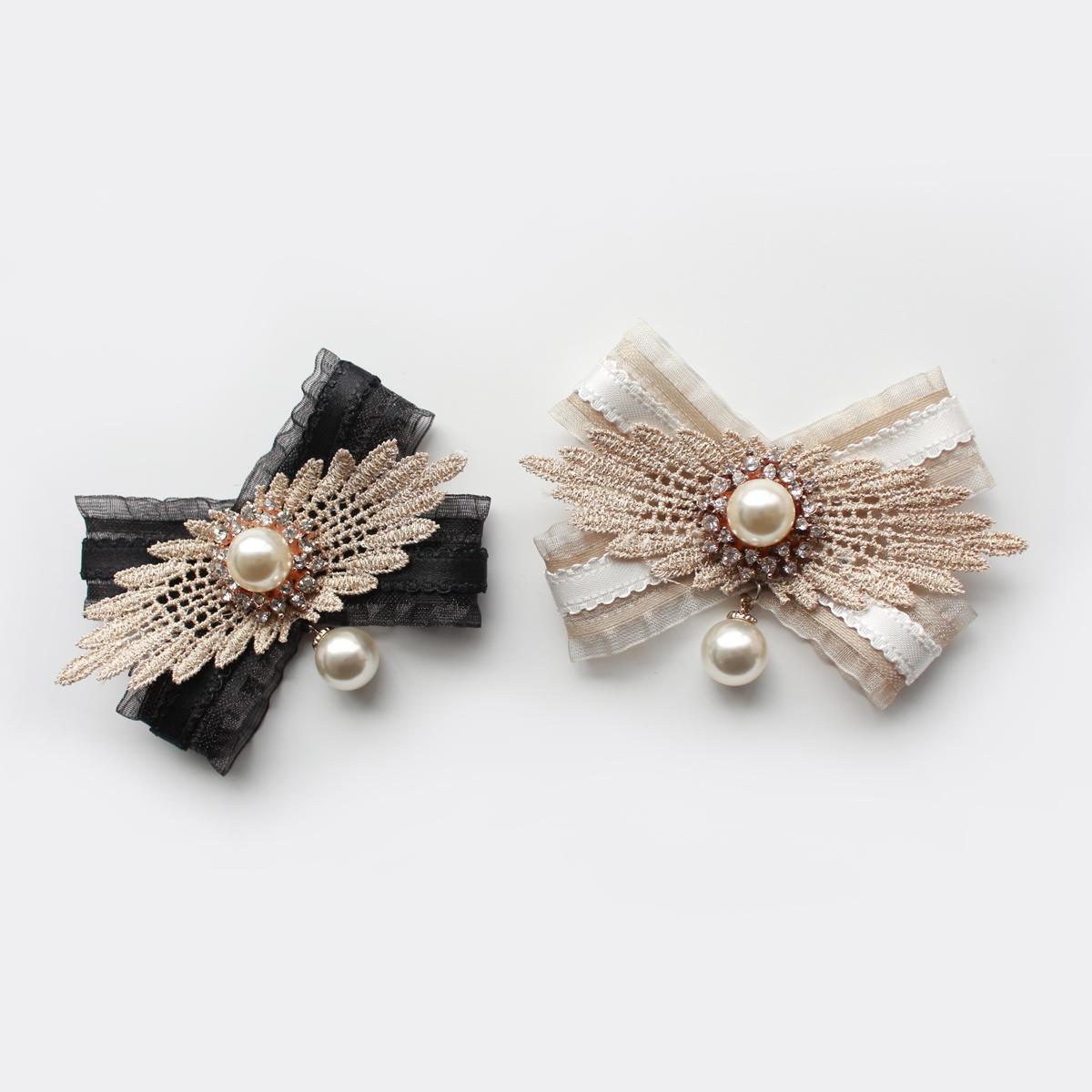 韩版领结女扣针潮胸花新款衬衣领口装饰领花胸针丝带蝴蝶
