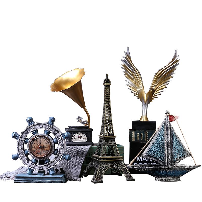 酒柜电视柜红酒架装饰品摆设家居玄客厅工艺品创意美式现代小摆件
