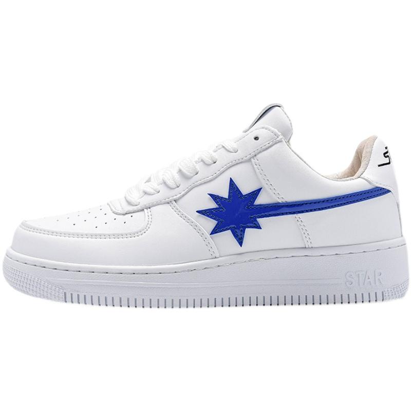 白色蓝星小众流行休闲男鞋网红爆款潮流小白鞋低帮板鞋男 STARWALK