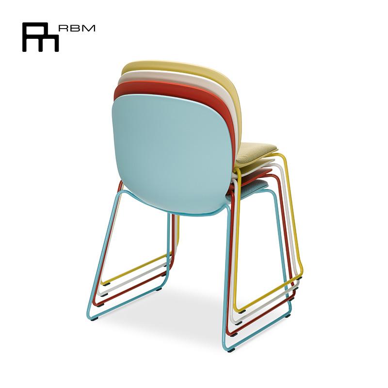 RBM原装进口贝壳椅 会议椅餐椅简约现代椅休闲北欧风椅子办公家用