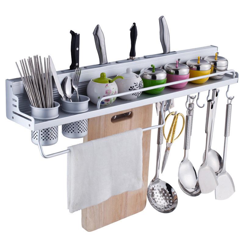 厨房置物架壁挂厨卫用品铝合金刀架挂钩放厨具挂架五金挂件免打孔