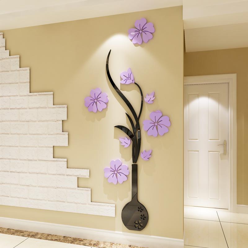 亚克力3d立体墙贴房间客厅玄关电视背景墙墙面装饰品墙壁贴画贴纸