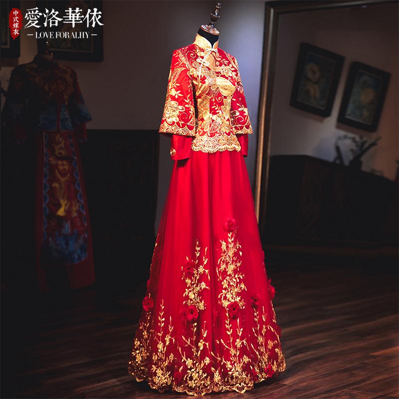 秀禾服新娘2020新款春夏中式结婚礼服出阁服秀和服红色加棉敬酒服