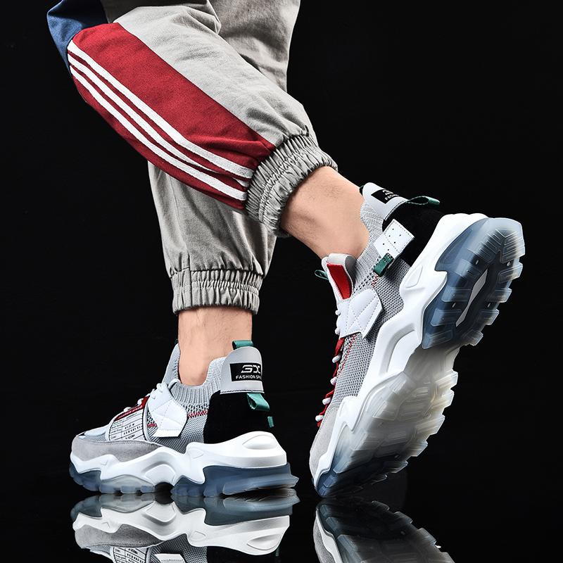 男鞋 新款夏季透气老爹鞋子男潮鞋百搭男士网鞋休闲网面运动鞋  2020