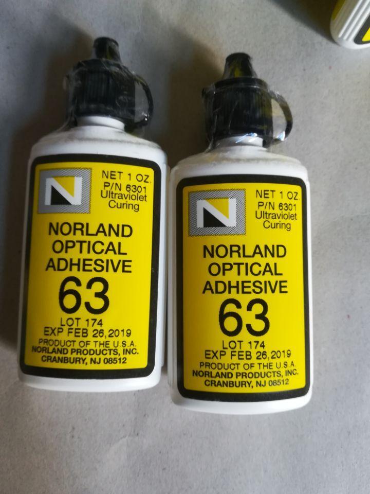 美國Norland紫外線UV固化光學膠NOA63,UV光固化膠