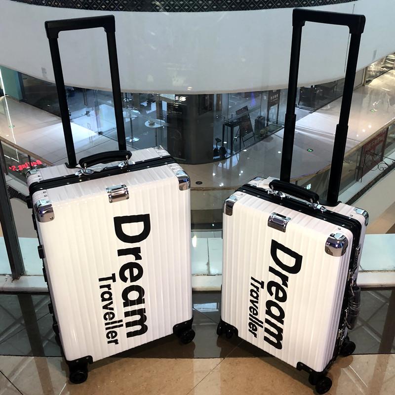 限量版潮牌全铝镁合金拉杆箱密码箱个姓行李箱男女旅行箱图案定制