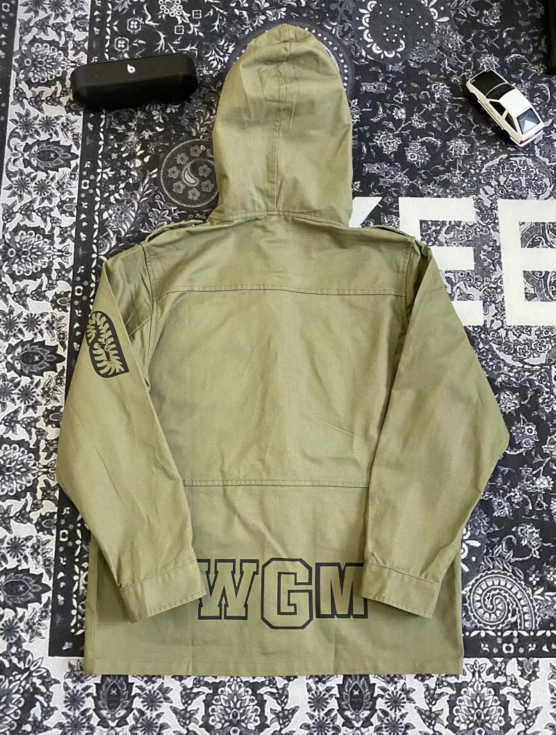 19SS 潘玮柏同款刺绣鲨鱼绿色工装外套 说唱歌手重工军事外套