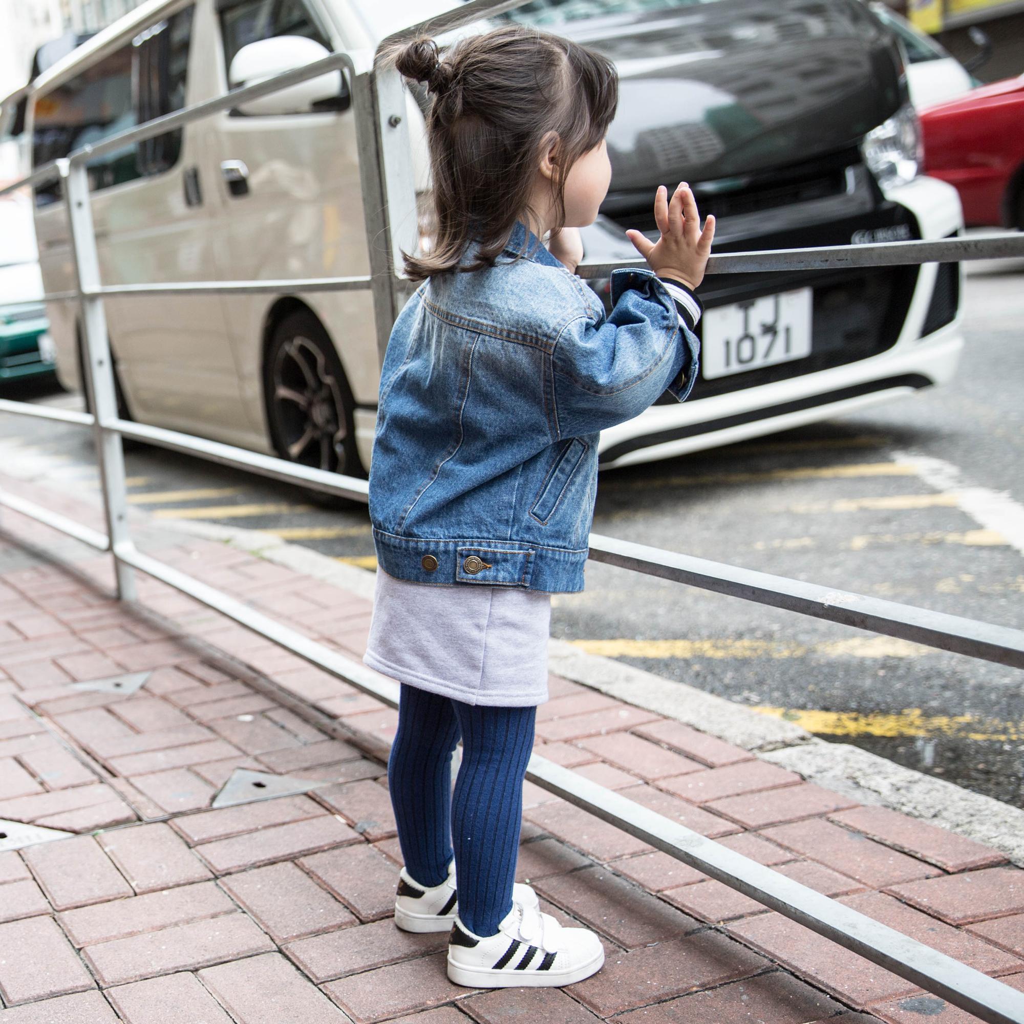 蓝小爸女童牛仔外套2019新款春秋装儿童韩版童装宝宝短款洋气上衣