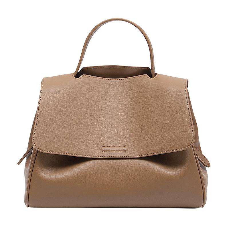 春季包包女大容量软皮面斜挎水桶包单肩包手提邮差包 GELASIR