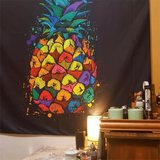 ins Nordic hanging cloth background cloth black color pineapple large dormitory bedroom wall tapestry upholstery beach towel
