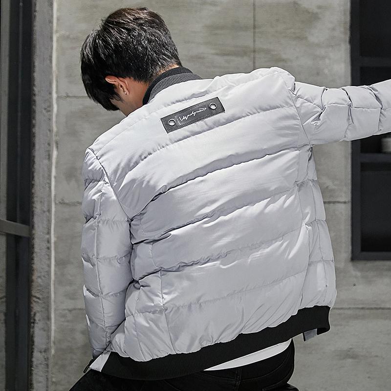 韩际冬季男士棉衣青年运动棉袄男装棒球领休闲时尚修身棉服外套潮