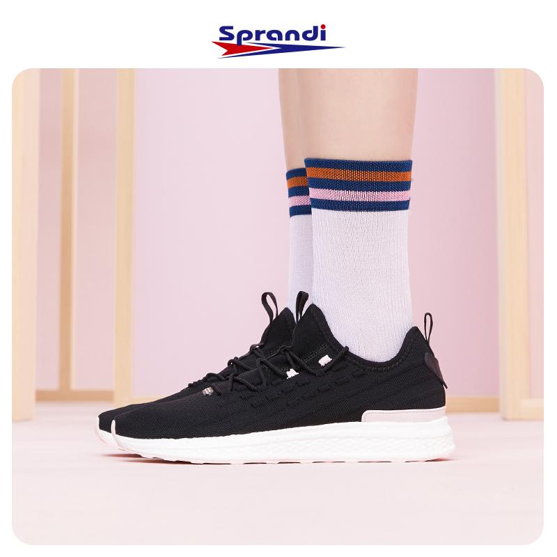 Sprandi斯潘迪运动女鞋轻便网面运动鞋软底跑步鞋时尚百搭小白鞋