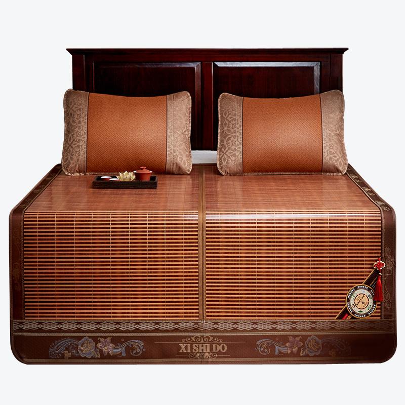 席饰多竹席凉席1.8m床1.5x2夏天草席1.2米双面折叠夏季冰丝席子