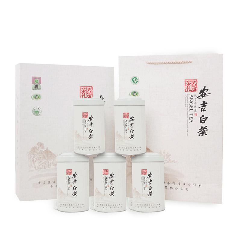 新茶礼盒装雨前茶叶绿茶 2018 特级安吉白茶 250g 安吉白茶旗舰店