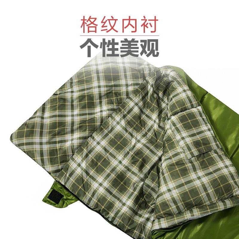牧高笛户外登山露营保暖防寒信封式中空棉双人可拼接春秋睡袋晴日