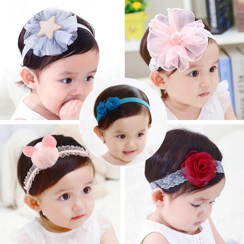 嬰兒紅色頭飾女寶寶髮帶0韓版公主頭花6-12個月3週歲兒童百天皇冠
