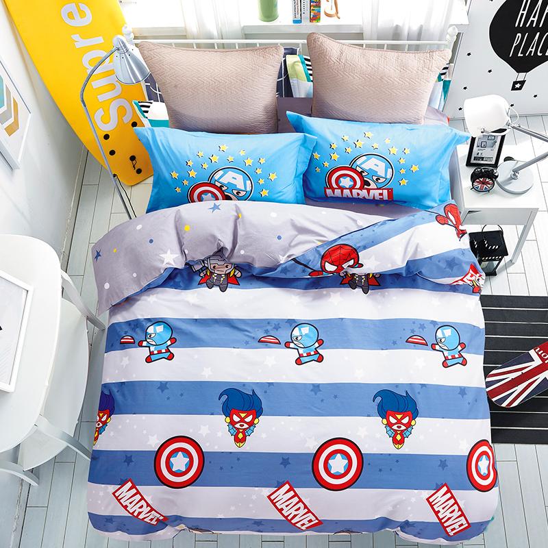【薇娅推荐】迪士尼A类儿童纯棉四件套1.5m床全棉床单被套1.8m床 - 图1