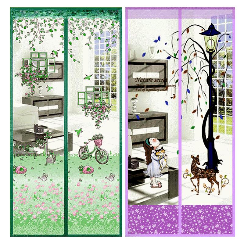 夏季防蚊门帘魔术贴磁性高档静音自粘型纱门家用防蝇通风纱窗纱网