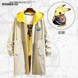 Pokemon Pokemon Detective joint anime jacket men and women clothes couple coat trench coat