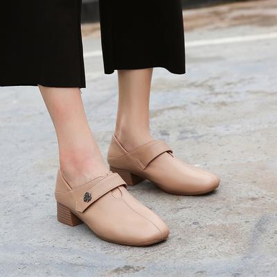 皮鞋秋季粗跟圆头是牌子吗