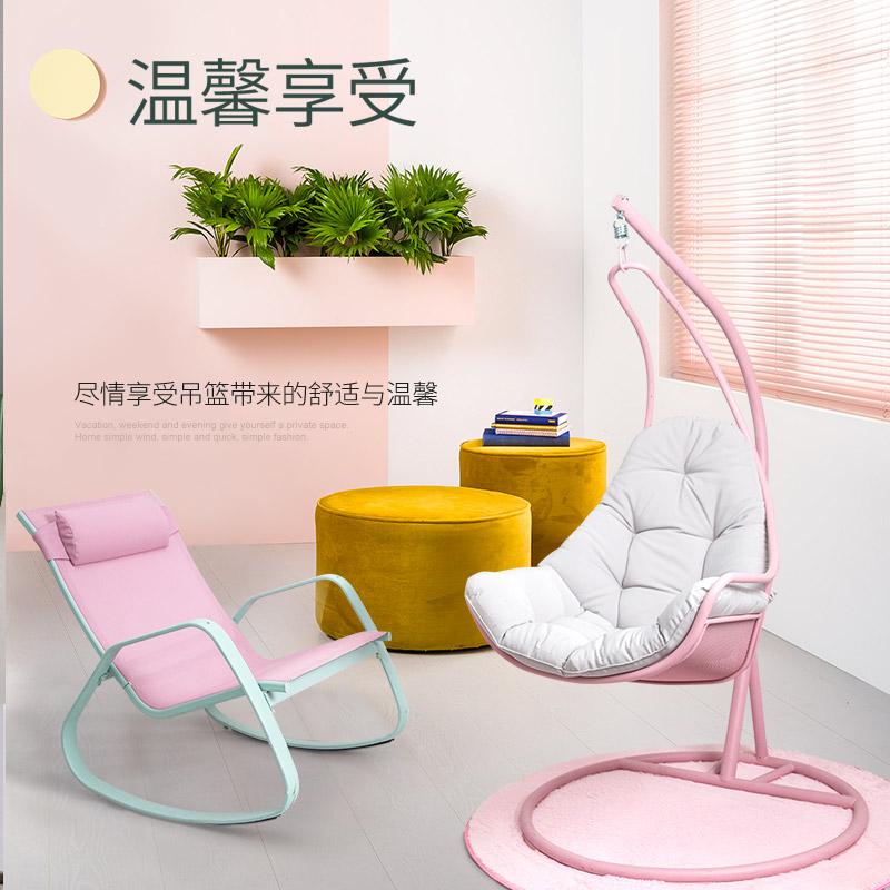 临亚欧式阳台的吊椅摇摇椅秋千椅吊篮鸟巢室内成人网红摇篮椅家用