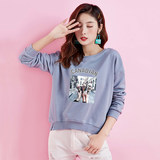 Loose sweater female short paragraph 2020 new Korean version of the Spring and Autumn thin pullover round neck no cap tide ins Jacket