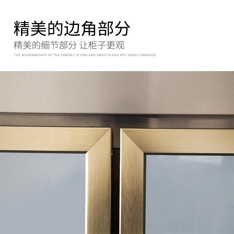 诺唯斯双开门冰柜展示柜立式商用冷柜啤酒饮料柜保鲜柜双门冷藏柜