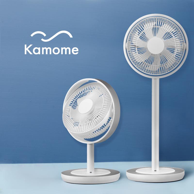日本kamomefan超静音海鸥电风扇家用落地扇遥控立式循环风扇281D