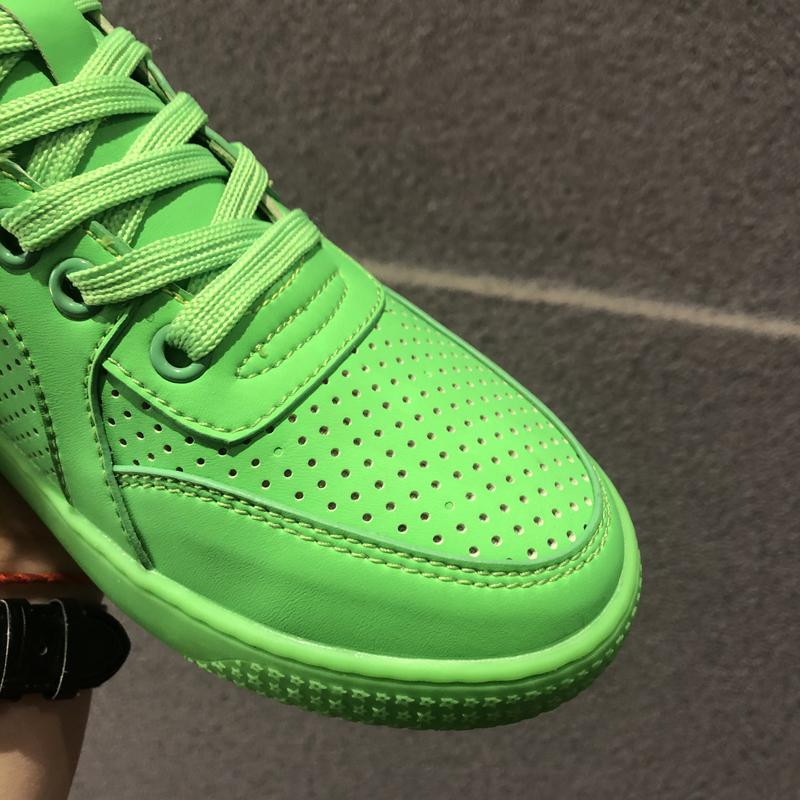 ins潮情侣高帮休闲鞋女内增高板鞋运动鞋绿色男球鞋系带嘻哈鞋子