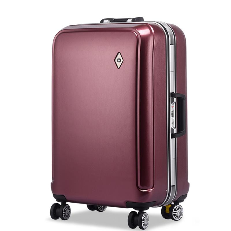瑞士军刀铝框拉杆箱万向轮旅行箱学生行李箱ins网红密码登机箱子