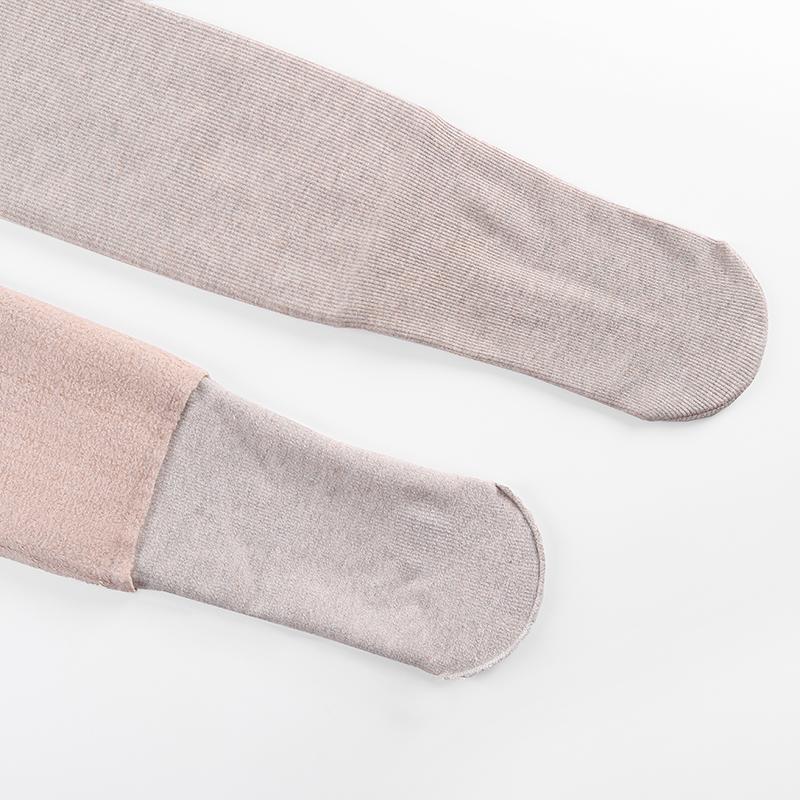 螺纹打底裤女外穿秋冬季加绒加厚棉裤显瘦灰色紧身高腰竖条连裤袜