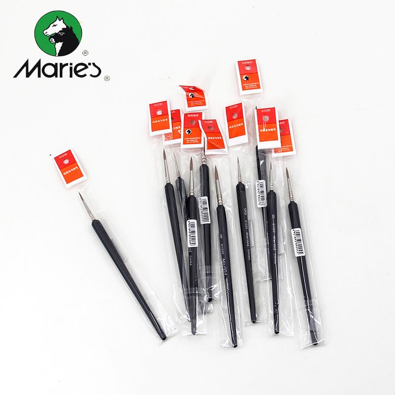 马利 狼豪勾线笔油画丙烯水粉水彩笔颜料画笔单支描线描边绘画笔