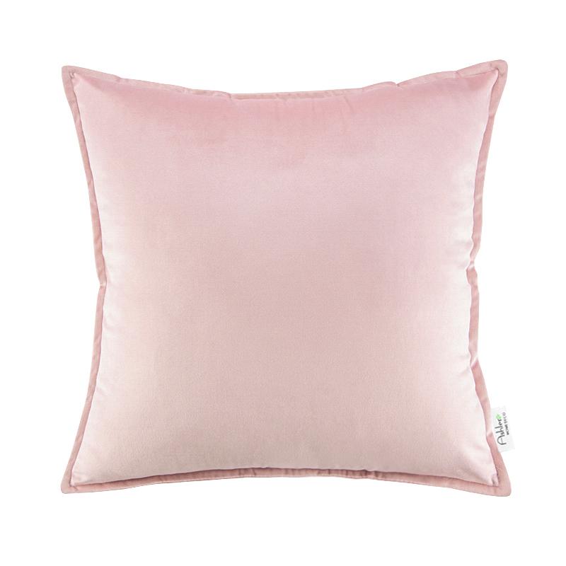 丝绒抱枕沙发靠背含芯正方形客厅纯色靠枕简约欧式天鹅绒靠垫套