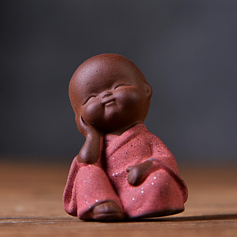 澜扬彩紫砂茶宠摆件可养小和尚茶艺茶桌茶台茶具摆件个姓创意人物