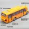 卡威校车玩具模型合金大号男孩回力车仿真公交车儿童大巴车玩具车