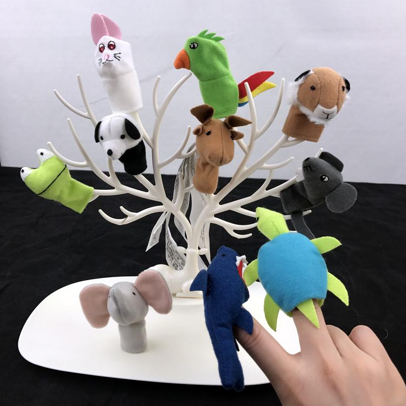 宜家迪塔迪尤尔指偶手指玩偶婴儿手偶毛绒玩具小动物指偶手套玩偶