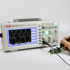 优利德数字示波器双通道100M带宽7寸彩屏数字示波器UTD2102CEX