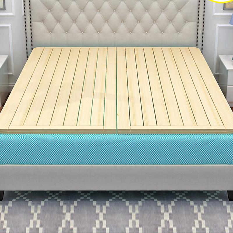 米加宽硬板床垫护腰 1.8 双人 1.5 松木硬床板折叠木板实木排骨架单人