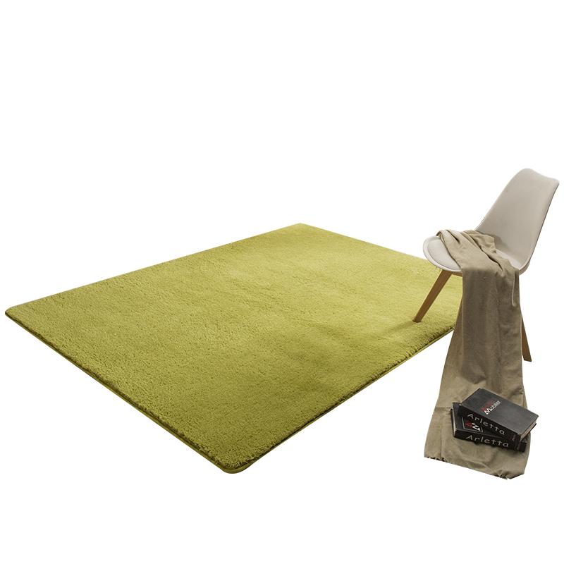 现代简约客厅满铺地毯长方形羊羔绒卧室地垫柔软家用茶几垫可定制
