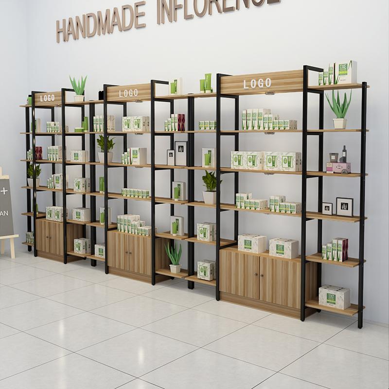 展示柜美容院護膚化妝產品母嬰店貨架簡約現代超市飾品置物陳列柜