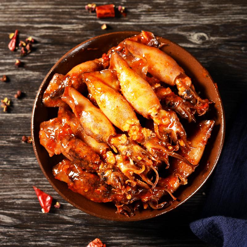 【第3件9.8】鱿鱼仔带籽即食墨鱼仔麻辣小海鲜香辣海兔满网红零食