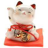 Japanese pharmacist's kiln painted Caiyuan Guangjin Lucky Cat car decoration birthday opened for friends and lovers gifts