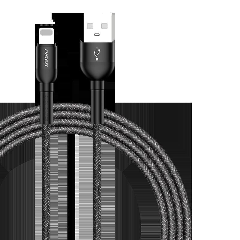 品胜适用于苹果12数据线se编织6s充电线器iPhone11快充7P闪充2米XR加长ios冲电平板12p正品XS加长8P