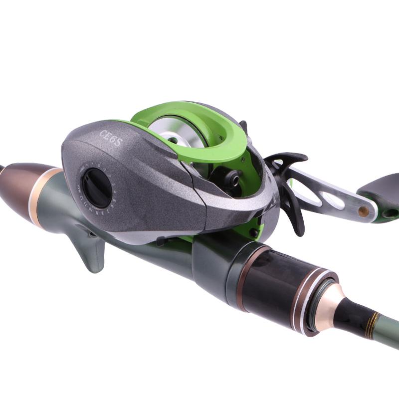 金属直抢柄远投抛渔杆海水滴轮钓鱼竿 碳素路亚竿套装 L 猎魔人双稍