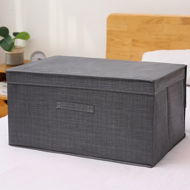 Clothing storage box fabric extra large waterproof and moisture-proof quilt storage box storage box foldable storage box