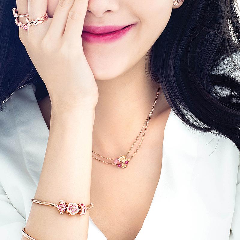 【双11预售】Pandora潘多拉漫漫桃花Rose项链388101NCC轻奢时尚女