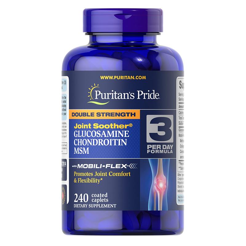美国 普丽普莱双倍浓度氨糖MSM软骨素氨基葡萄糖复合片 240片