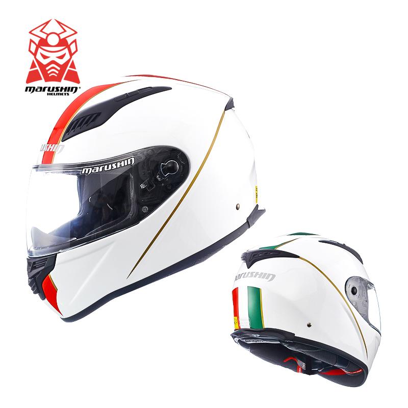 马鲁申头盔摩托机车男女通用marushin森全覆式四季防雾蓝牙BFF-B5